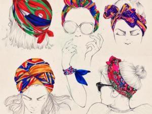 tuto coiffure comment se coiffer avec un foulard hair beauty coiffure coiffure avec. Black Bedroom Furniture Sets. Home Design Ideas