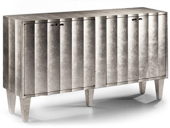 fluted front silver cabinet | cabinets | Pinterest