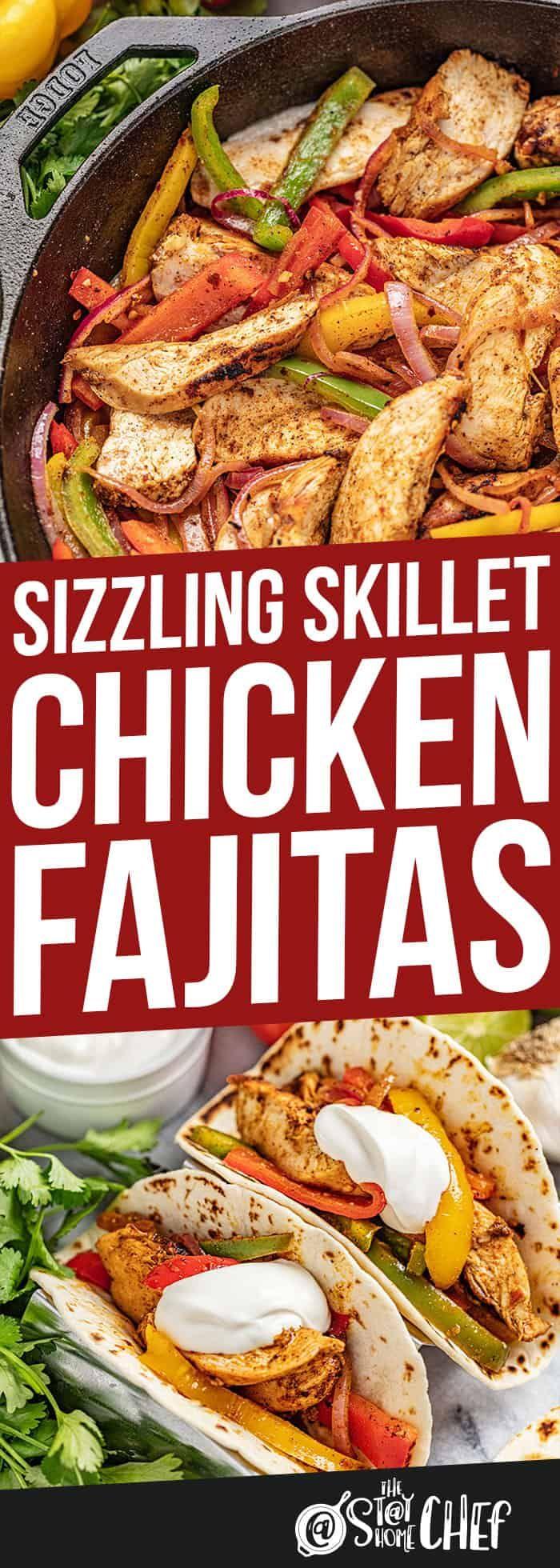 Sizzling Skillet Chicken Fajitas Recipe In 2020 Chicken Fajita Recipe Fajita Recipe Chicken Recipes