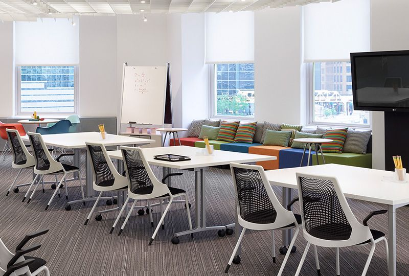 Everywhere Tables And SAYL Side Chairs, Chicago Showroom, NeoCon 2011. See  More. From Hermanmiller.com
