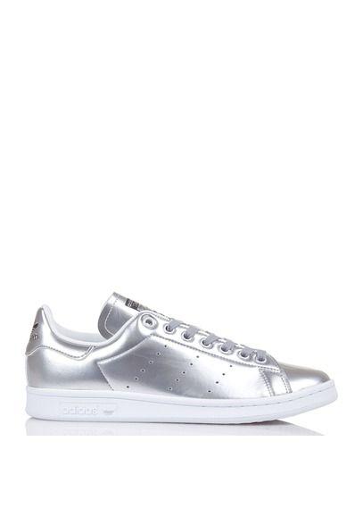 plutôt sympa 9bbfa 2d33a Stan Smith en cuir métallisé Gris by ADIDAS | shoes en 2019 ...