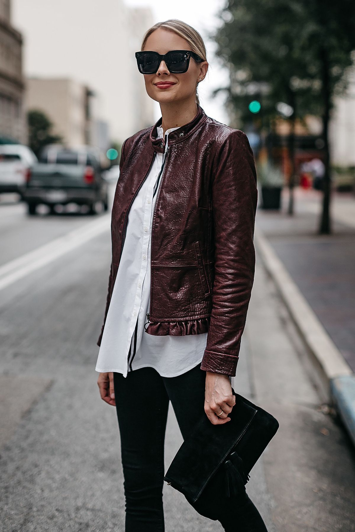 2019 year look- How to white wear moto jacket