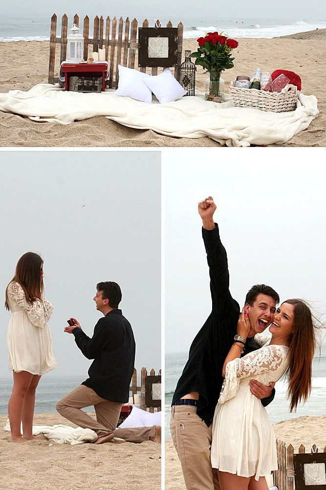 proposal romantic marriage simple yes proposals propose said she engagement marry ways beach unique surprise creative gifts perfect dream unbelievable