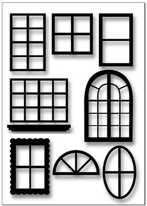 Printable Window Template For Agd Room I M Making Putz Houses Gingerbread House Patterns Glitter Houses