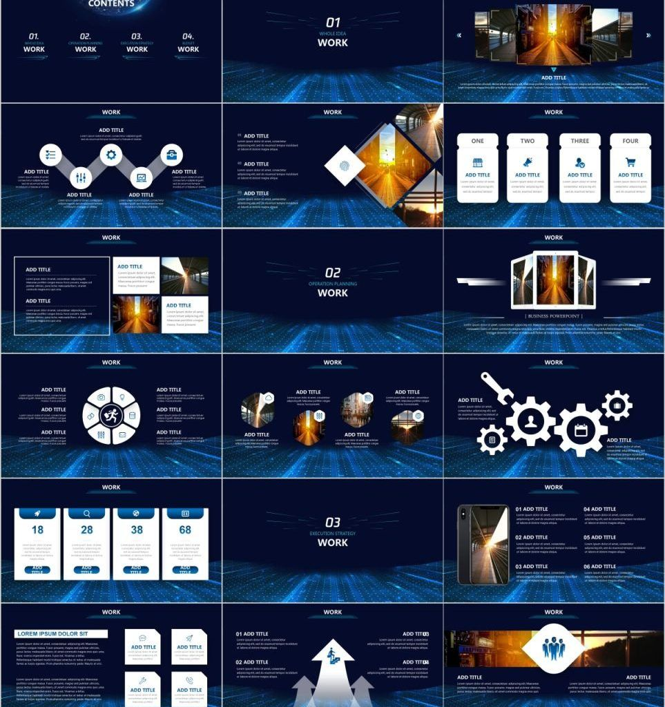 30+ Blue Annual Report PowerPoint templates #annualreports