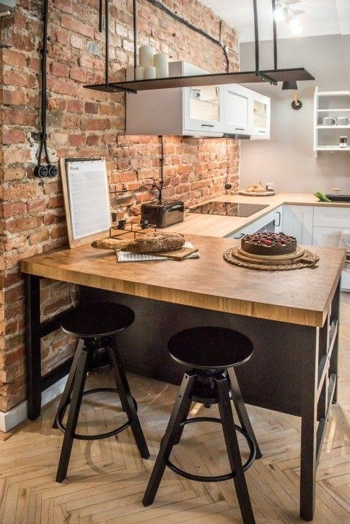 Czarny Polwysep W Kuchni Wyspa Ikea Industrial Style Kitchen Kitchen Interior European Home Decor