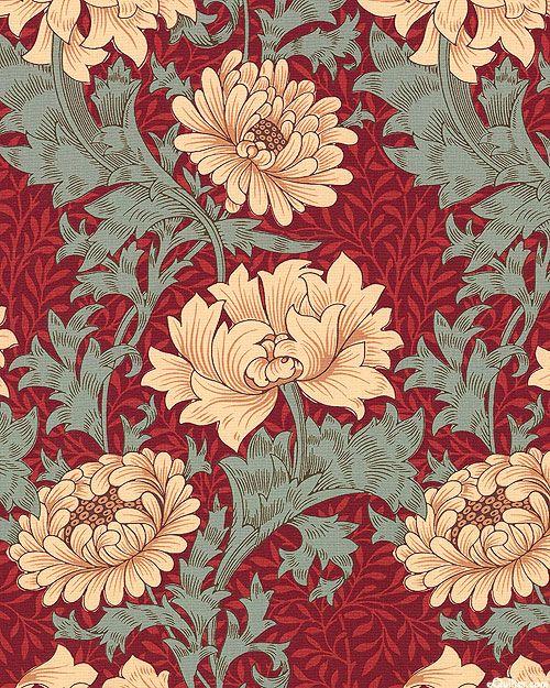 William Morris Merton Chrysanthemum Quilt Fabrics