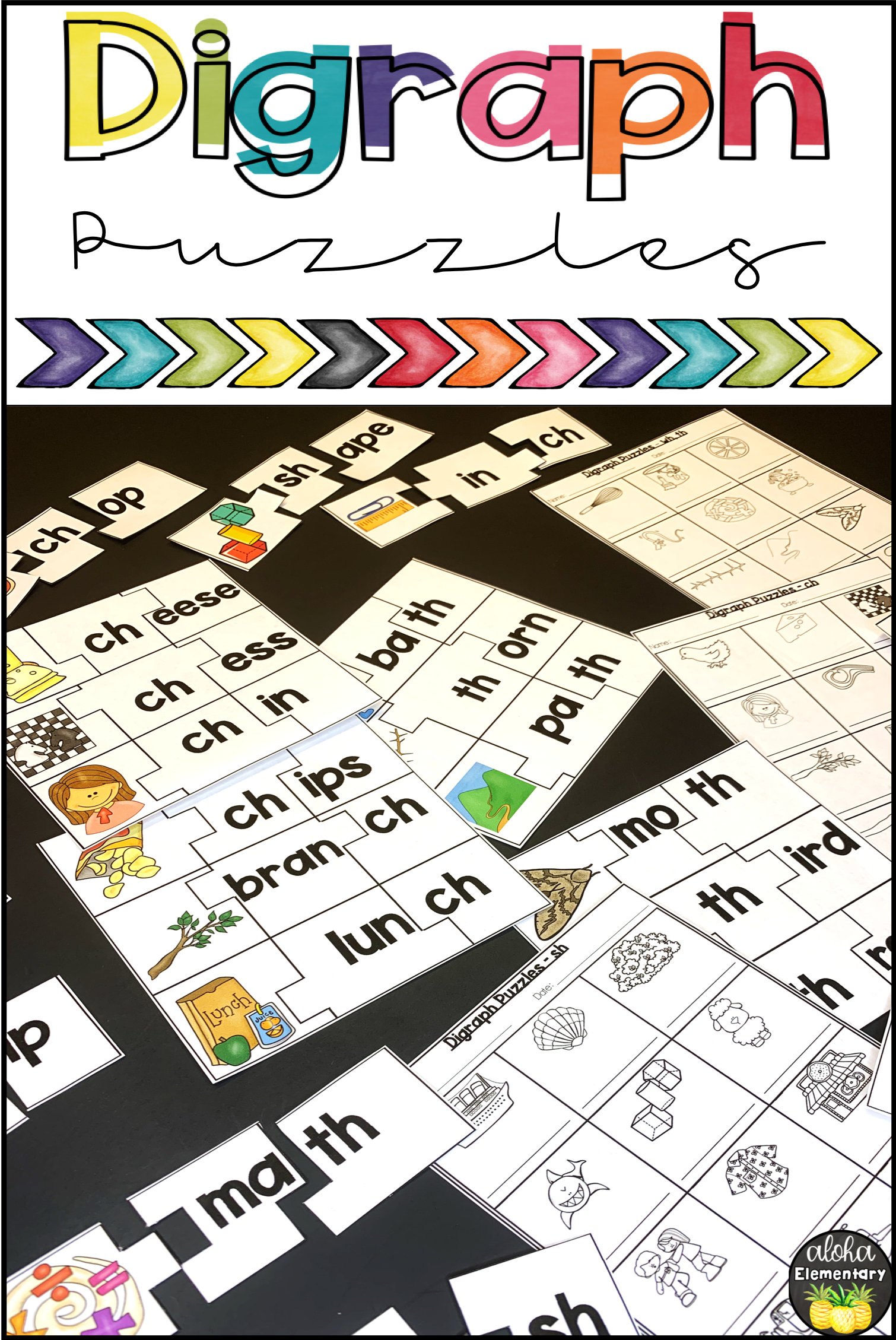 Digraph Puzzles Single Syllable In