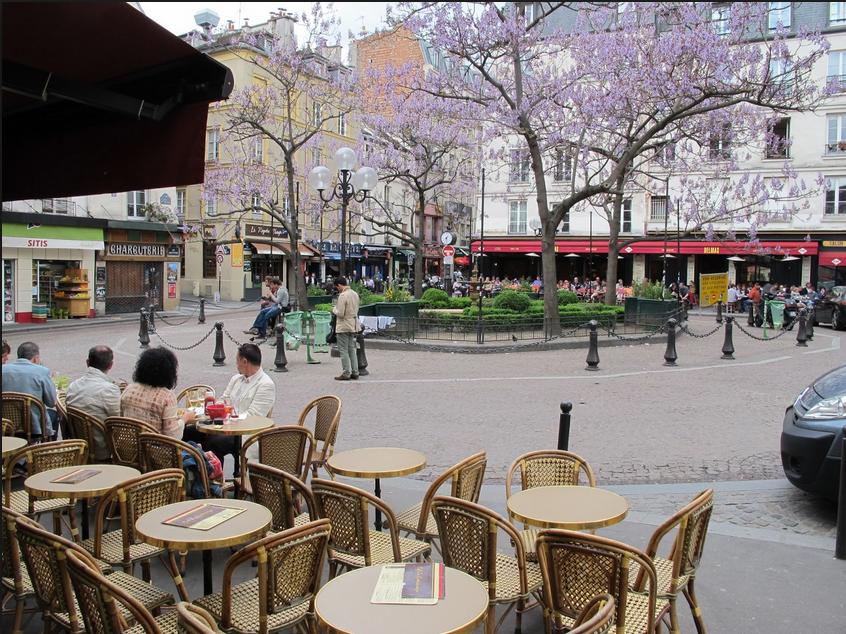 Le Contrescarpe in Paris - courtesy of Alex!
