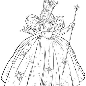 The Wizard Of Oz Glinda From The Wizard Of Oz Coloring Page