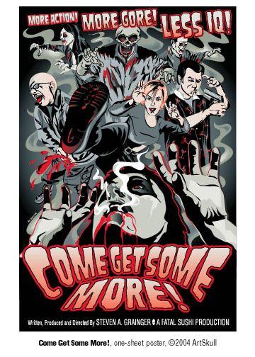 Come Get Some More! movie poster, Adobe Illustrator