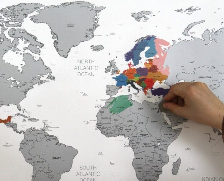 How cool is this A scratch off map to check off all the places – Travelers World Map