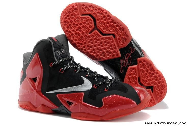 Black · Authentic Nike LeBron 11 616175-012 Black/Metallic Silver-University  Red-Bright