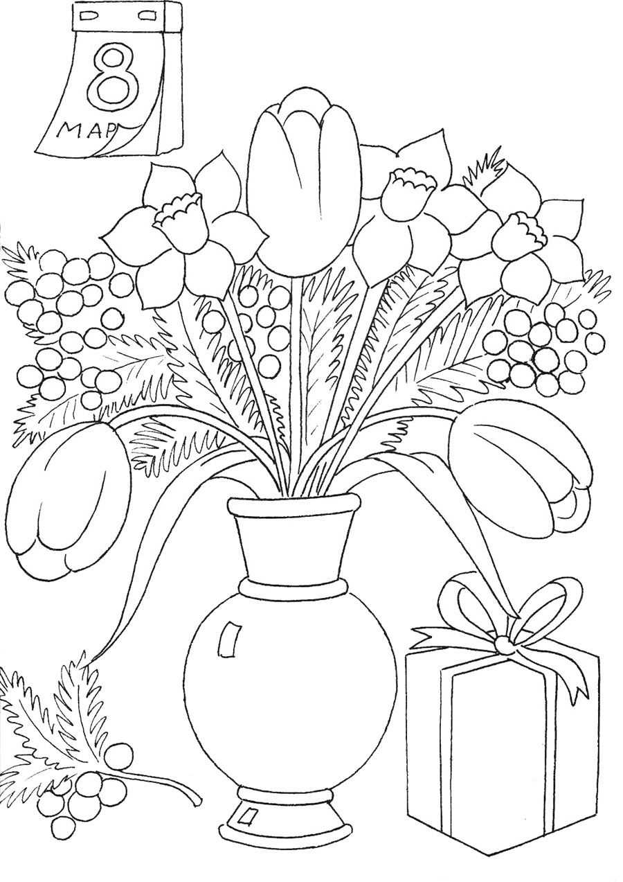 Womens day coloring pages for kids preschool and kindergarten