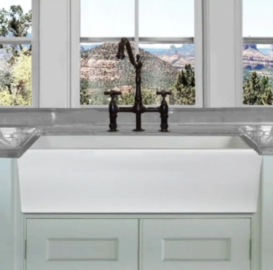 Highpoint Collection 36 In Reversible Italian Fireclay Farmhouse