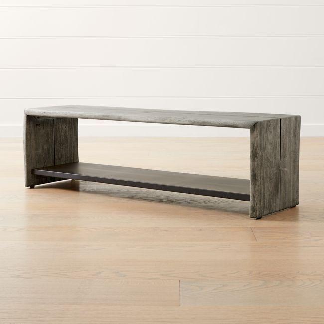 Yukon Grey Entryway Bench With Shelf In 2020 Entryway Bench