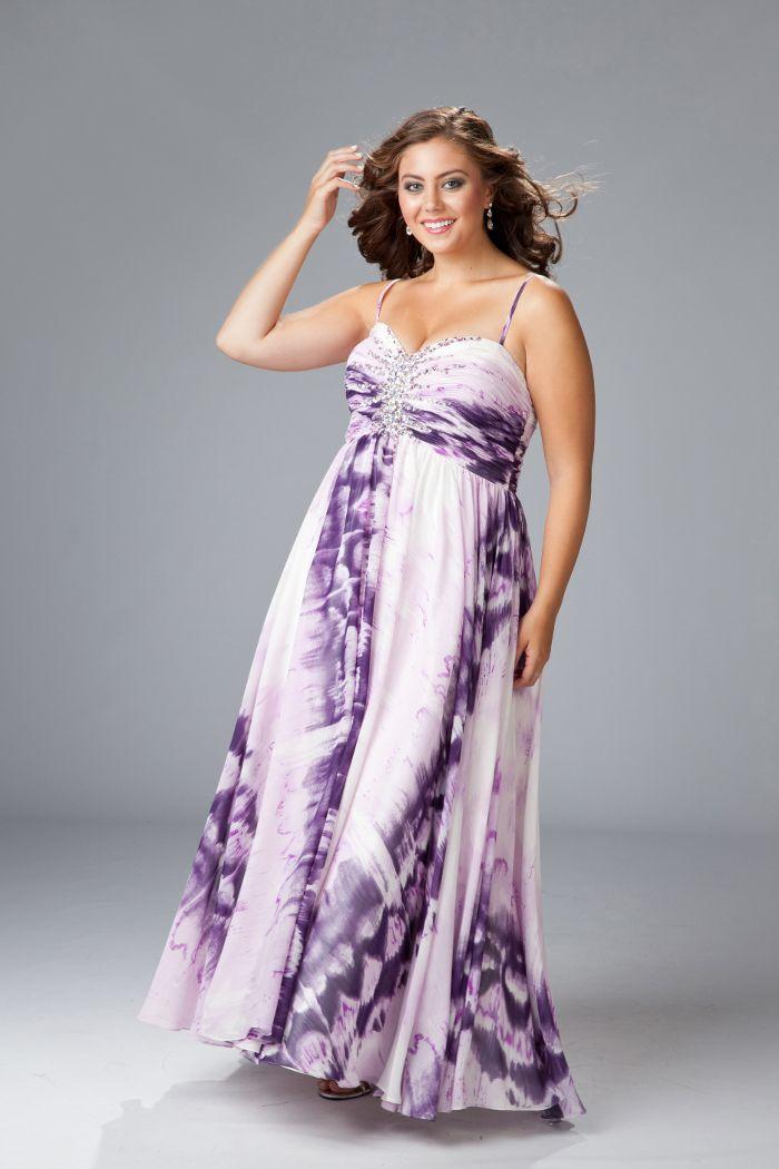 Purple Tie Dye - Front in 2019 | Purple plus size dresses ...