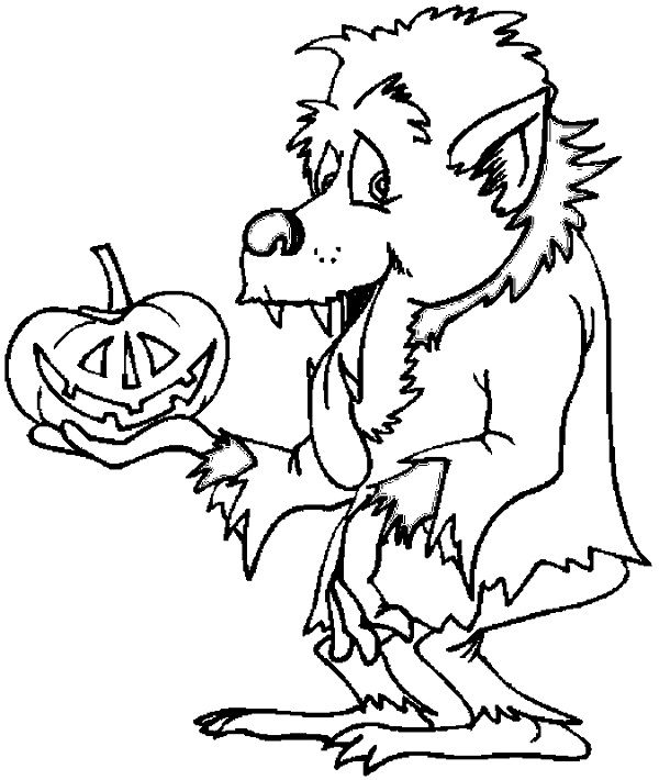 halloween coloring pages werewolf  halloween coloring