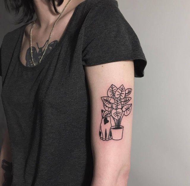 House Plant Tattoos Pretty Tattoos Cool Tattoos