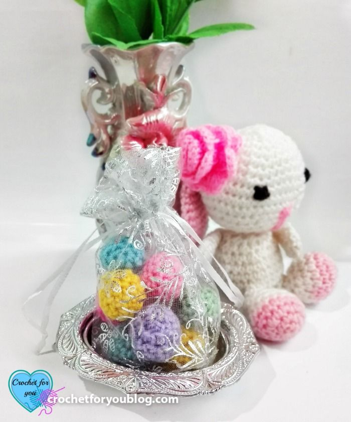 Crochet non-sweet Candy Treat Bag Free Pattern | Llaveros