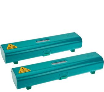 Kuhn Rikon Foil /& Plastic Wrap Dispenser Set Of 2 Blue Open Box