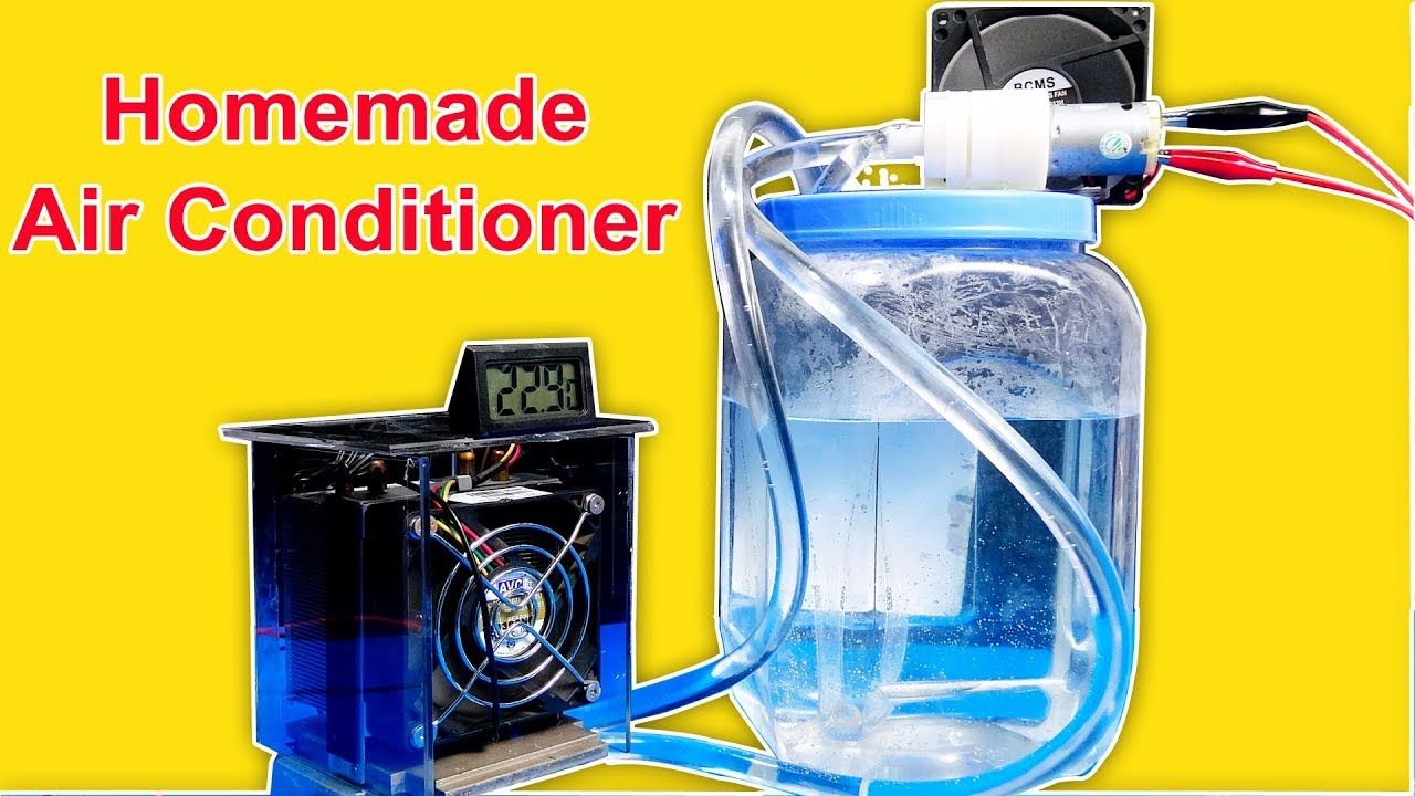 How to make Air Conditioner WITHOUT ICE Simple Homemade