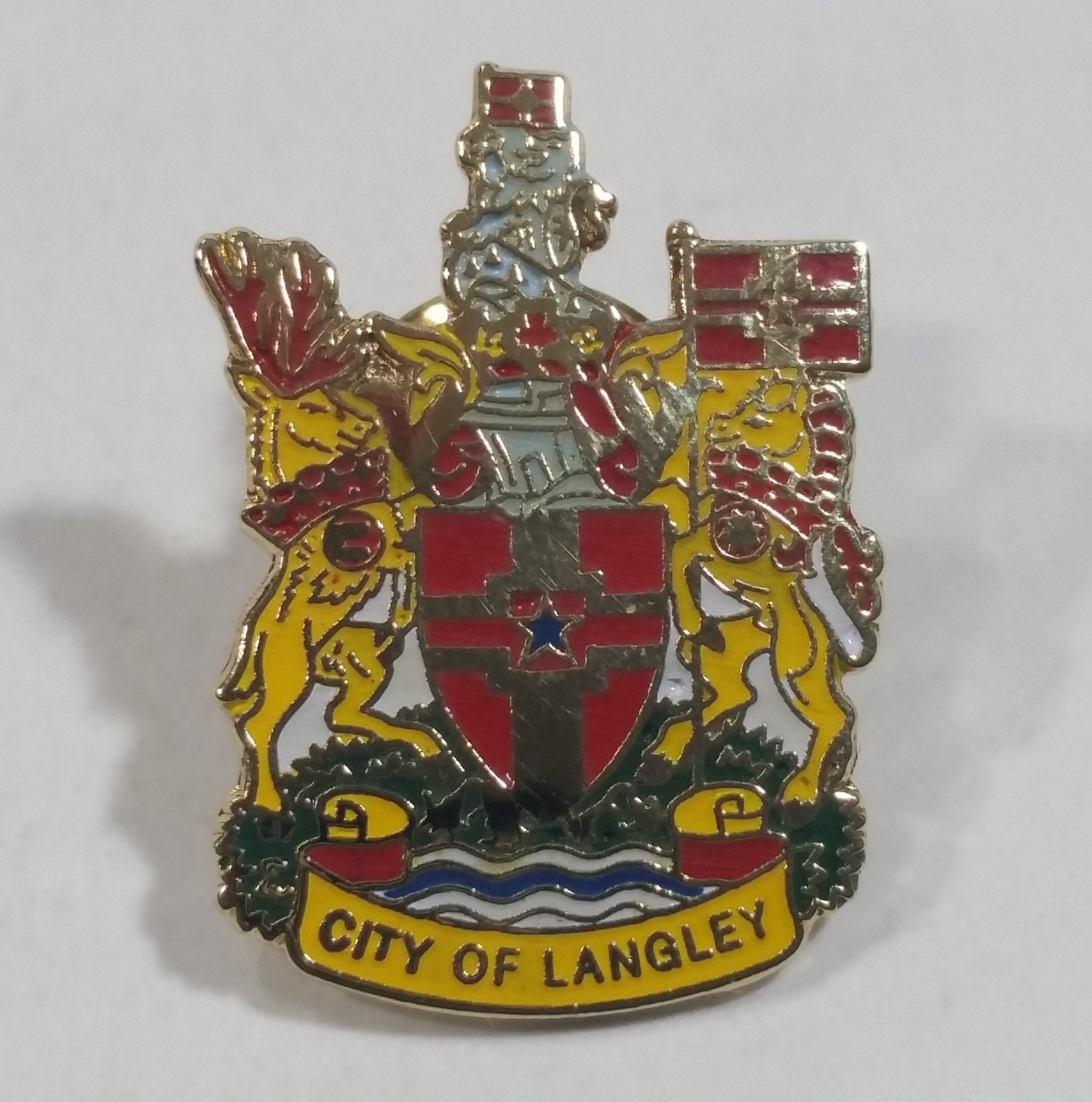 City of langley british columbia canada enamel metal