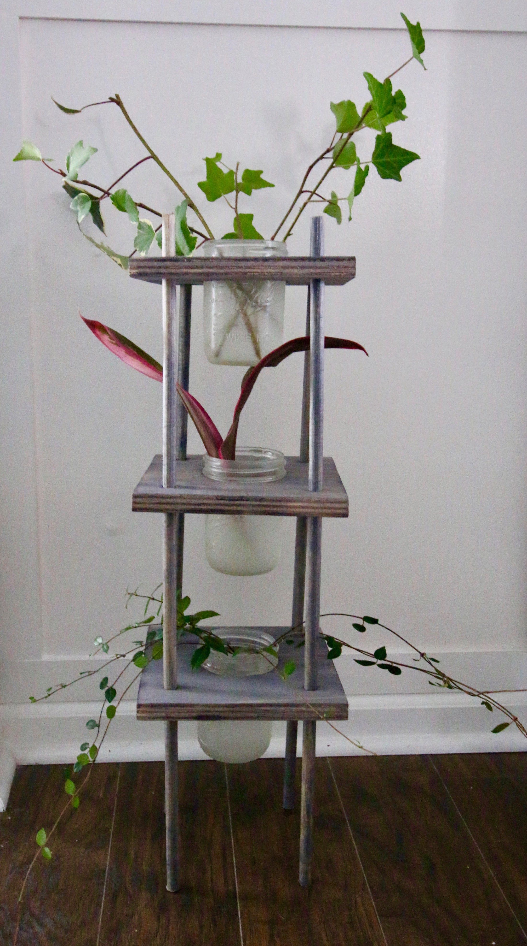 Three Tiered Propagating Plant Stand  Charleston Crafted
