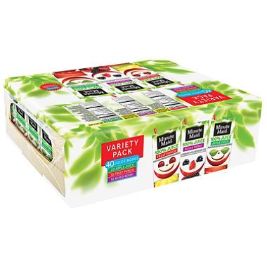 Minute Maid 100 Juice Variety Pack (6 oz., 40 ct