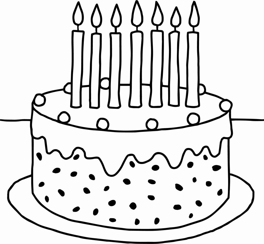 Birthday Cakes Coloring Pages In