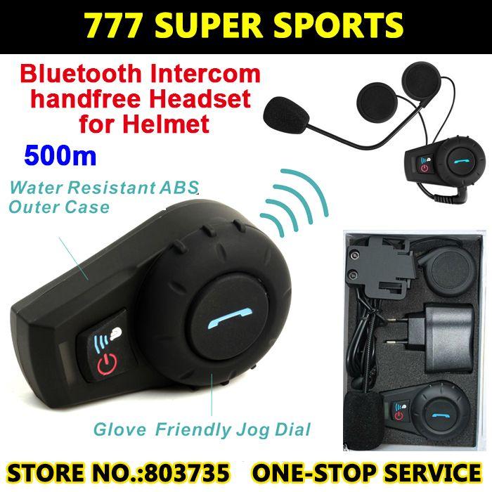ef09f578d37 Upgrade FM Radio Motorcycle Helmet Intercom Headset Bluetooth Inter phone  Sports Helmet Kits FDC-VB