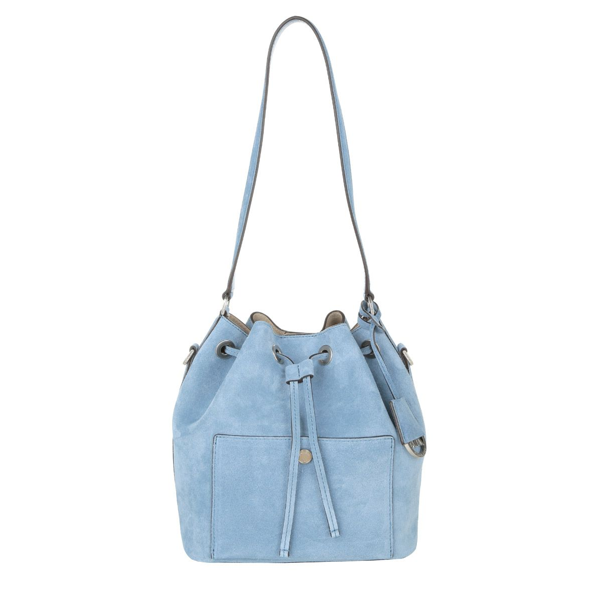 MICHAEL Michael Kors Greenwich MD Bucket Bag Suede Denim