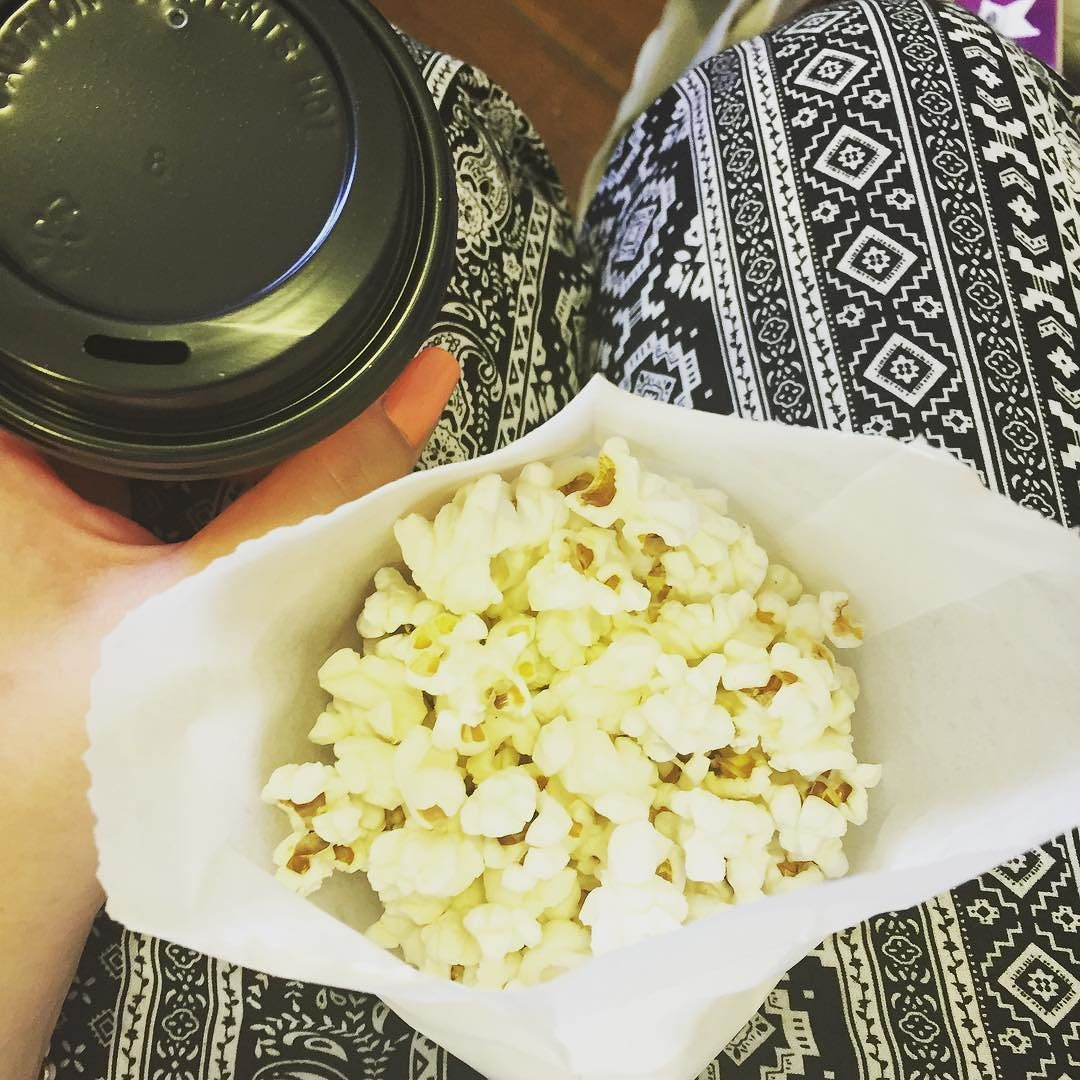Tea And Popcorn Exactly What I Need While I Watch Filming