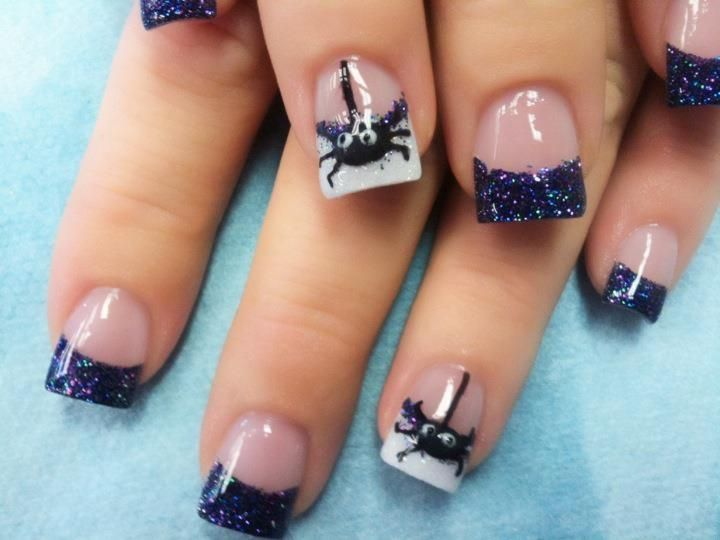 Unique Acrylic Nails Halloween Nail Art For Nail Design Ideas With