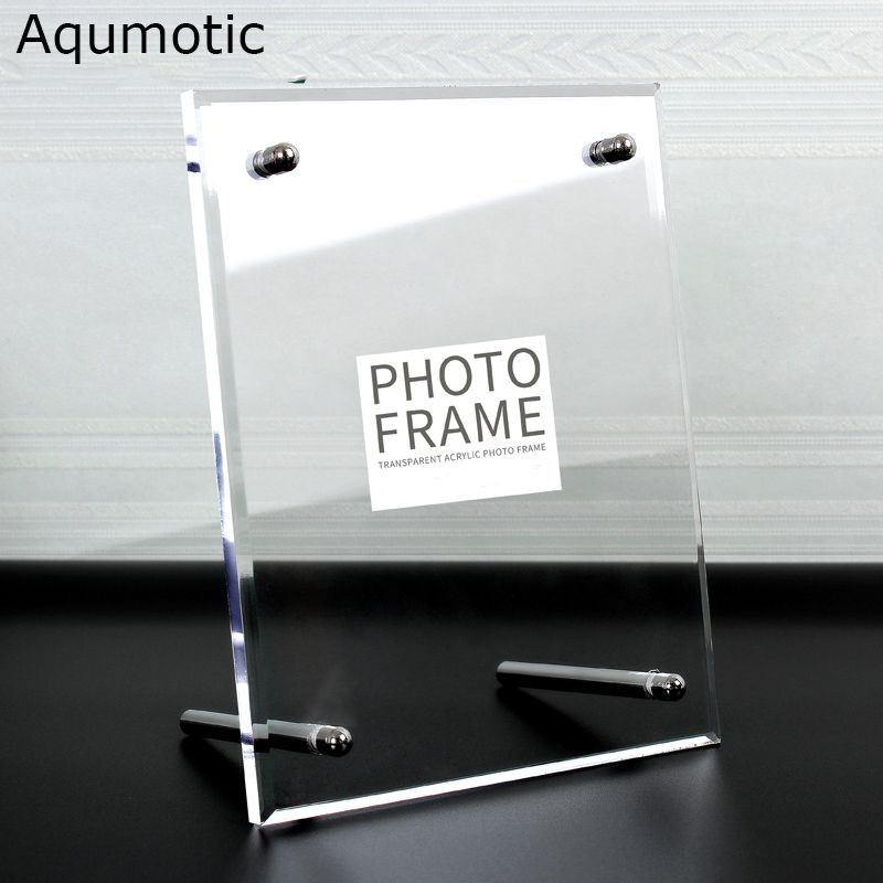 Aqumotic Clear Acrylic Frame 8x10 Large Acrylic Picture Frame ...