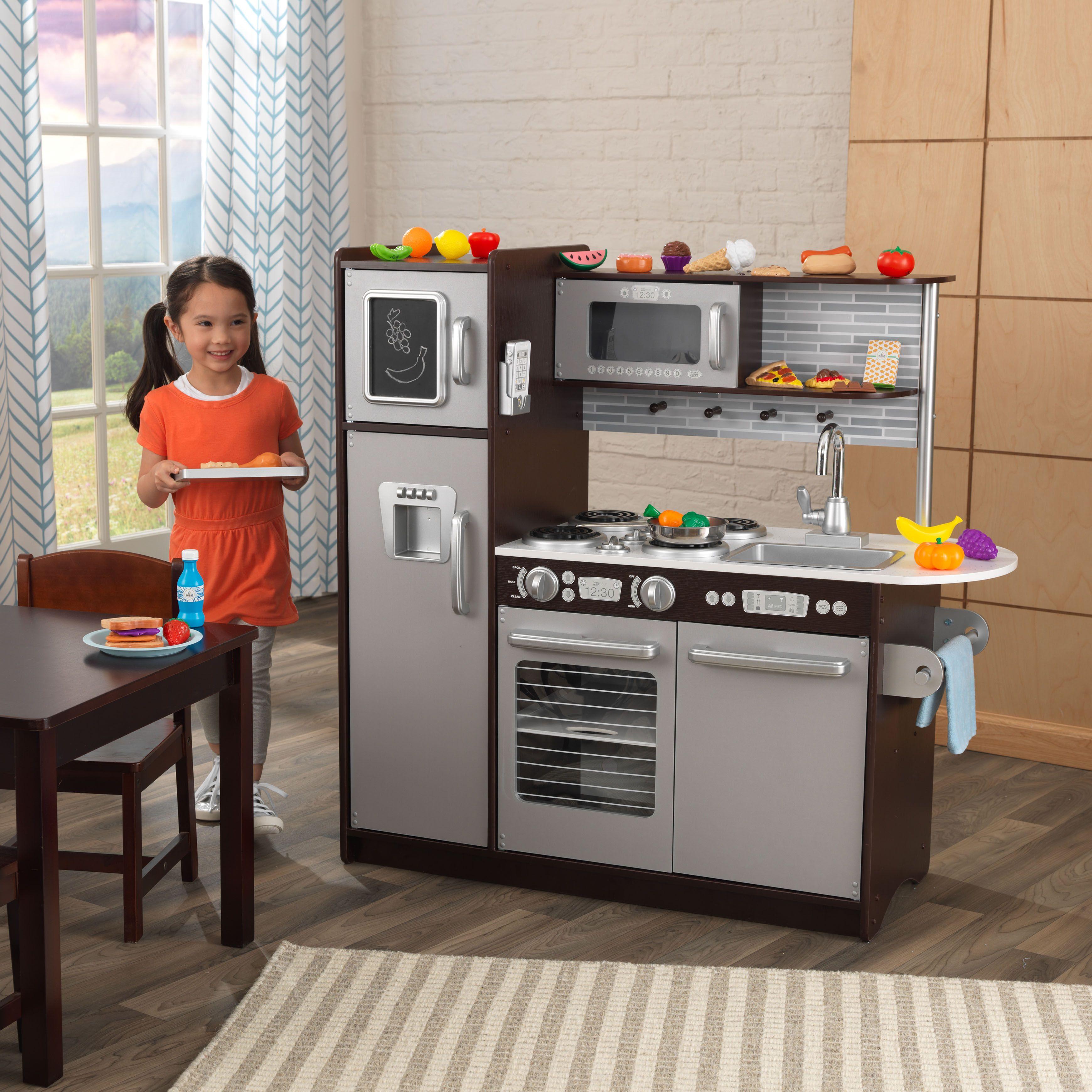 99.98 (reg 150) KidKraft Uptown Espresso Kitchen with 30