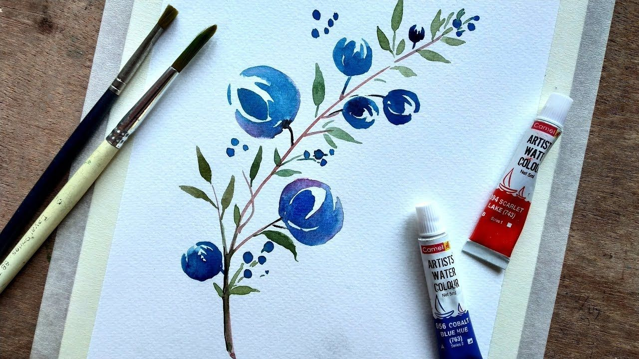 Watercolor Painting For Beginners Simple And Easy Youtube