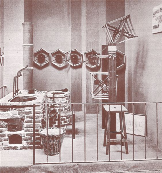Volta's exhibition: Villa Olmo 1927, how to spin the silk