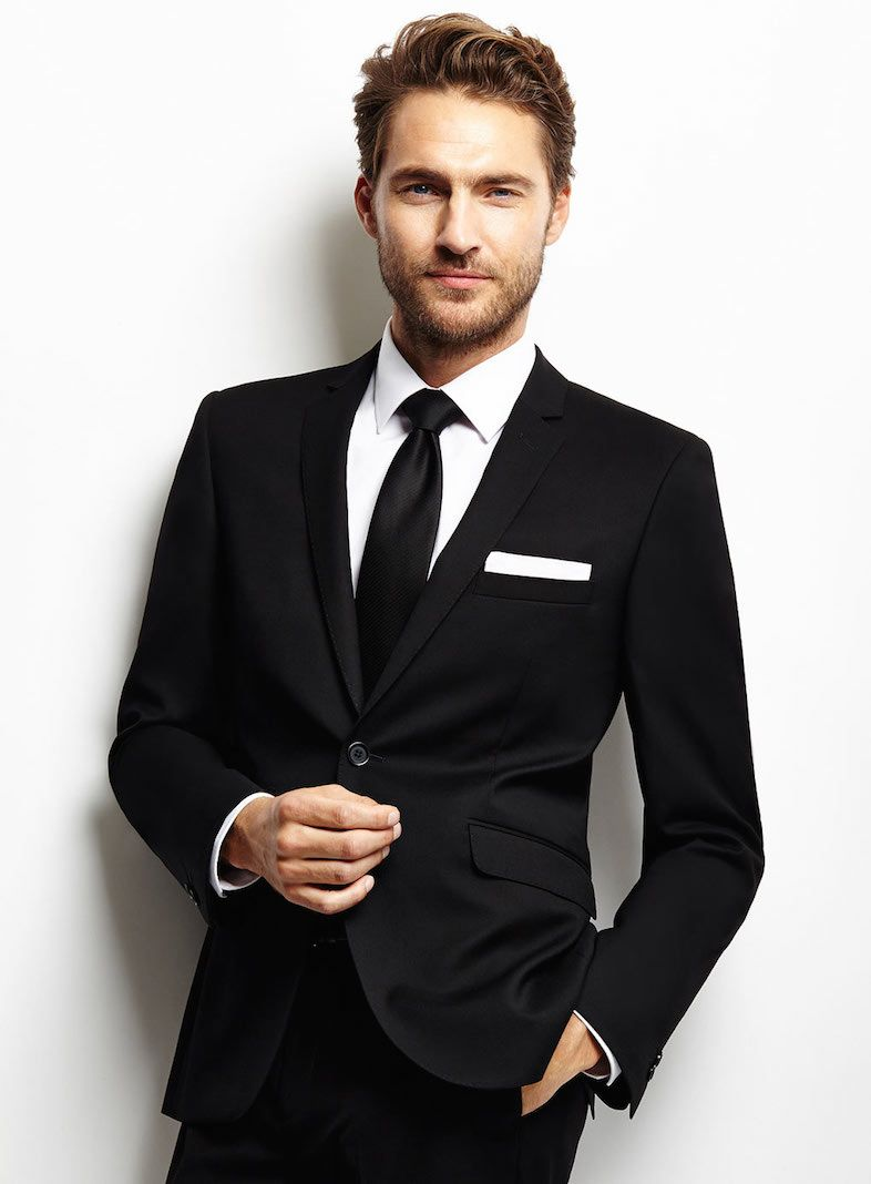 Slim Fit Black Suits