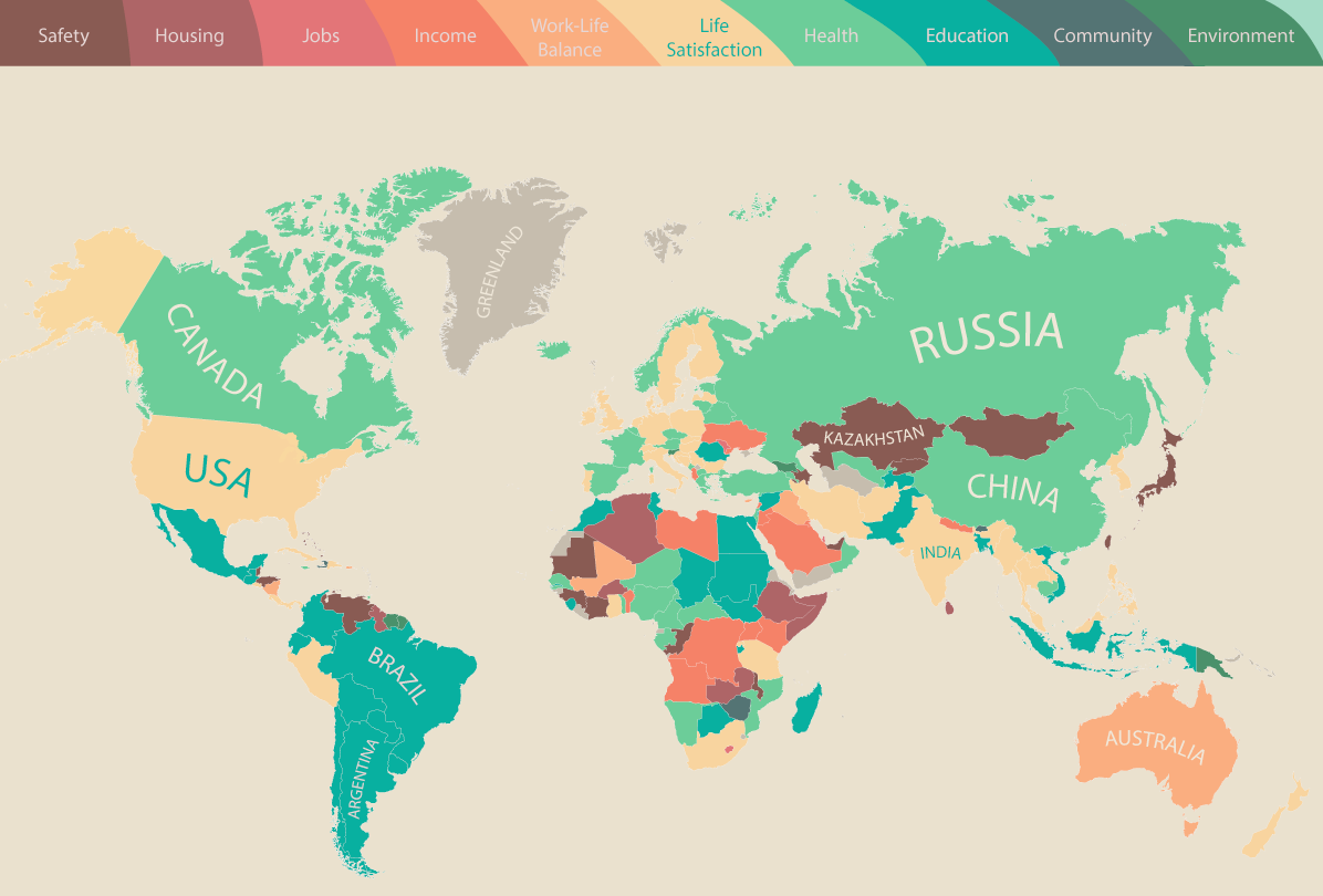 Map What people around the world value