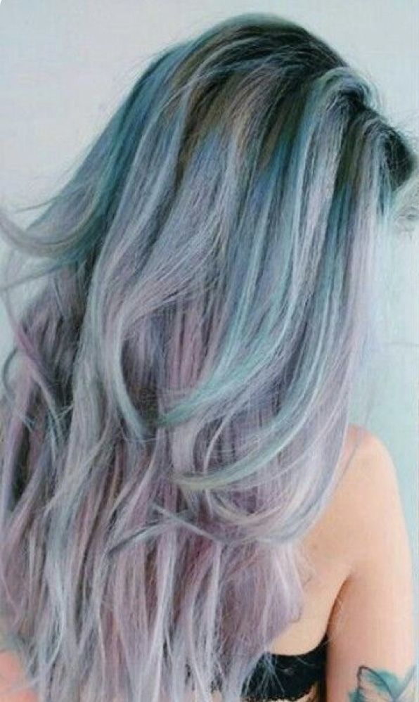 Inspiration Discovered By Melissa Pavel Mermaid Hair Blue Green
