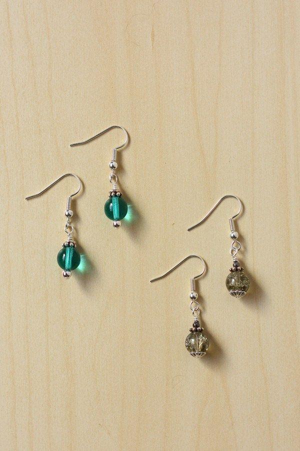 Earrings With Bead Caps And Spacers Simple Earrings Diy