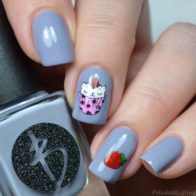 Cupcake Kitten Nail Art Bliss Polish Tinsel and Tradition | Polished ...