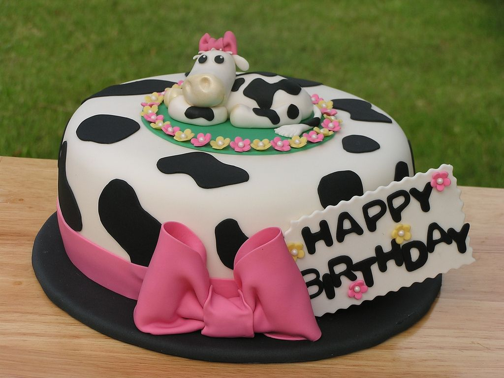 Fabulous Cow Cake Image 8Od Funny Birthday Cards Online Overcheapnameinfo