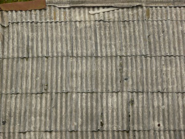 Roof Texture Containing Grey Sheet Metal With Wave Like