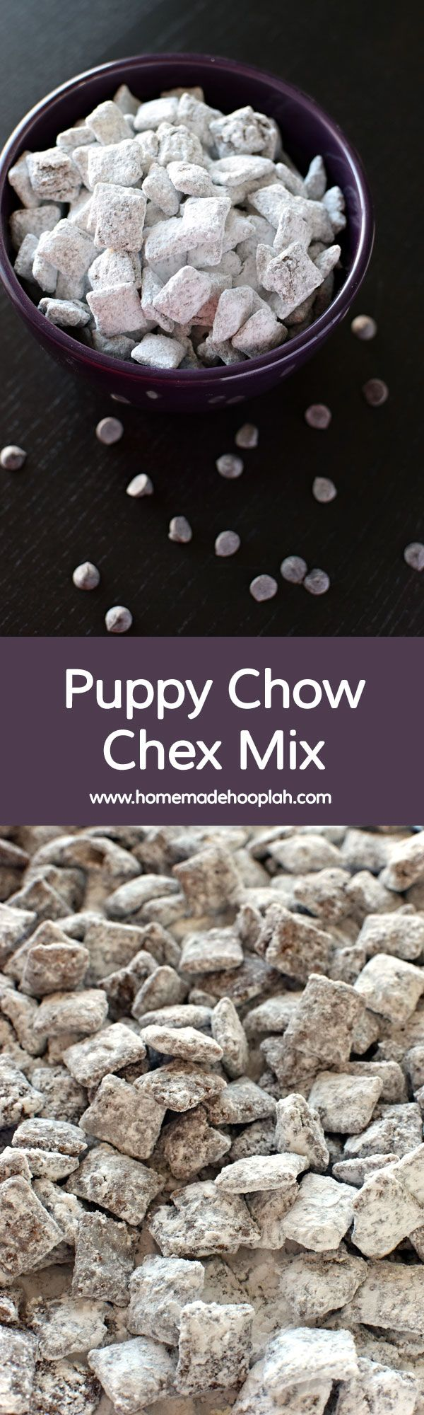 Puppy Chow Chex Mix Crunchy Chex Cereal Covered In Chocolate