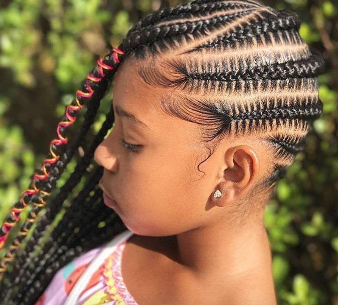 Follow Vinaksena مجد Black Kids Braids Hairstyles Natural Hairstyles For Kids Kids Braided Hairstyles