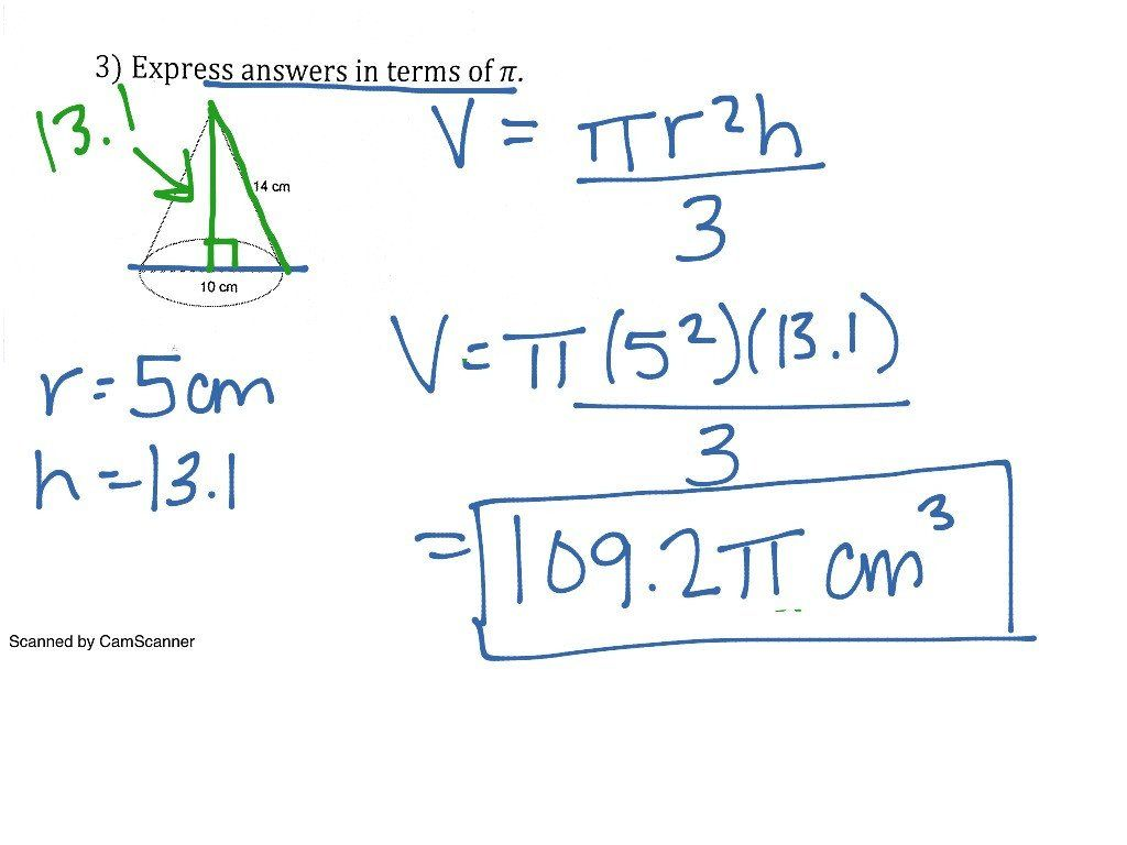 Volume Of Pyramids Worksheet Volume Of Pyramids And Cones