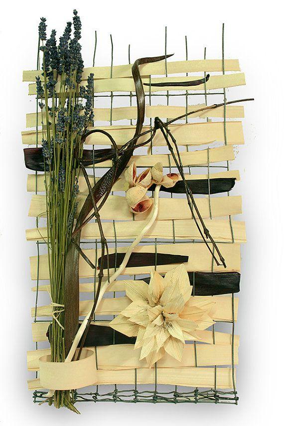 Wall Hanging Floral Arrangement White Dahlia by FlorescentDecor ...