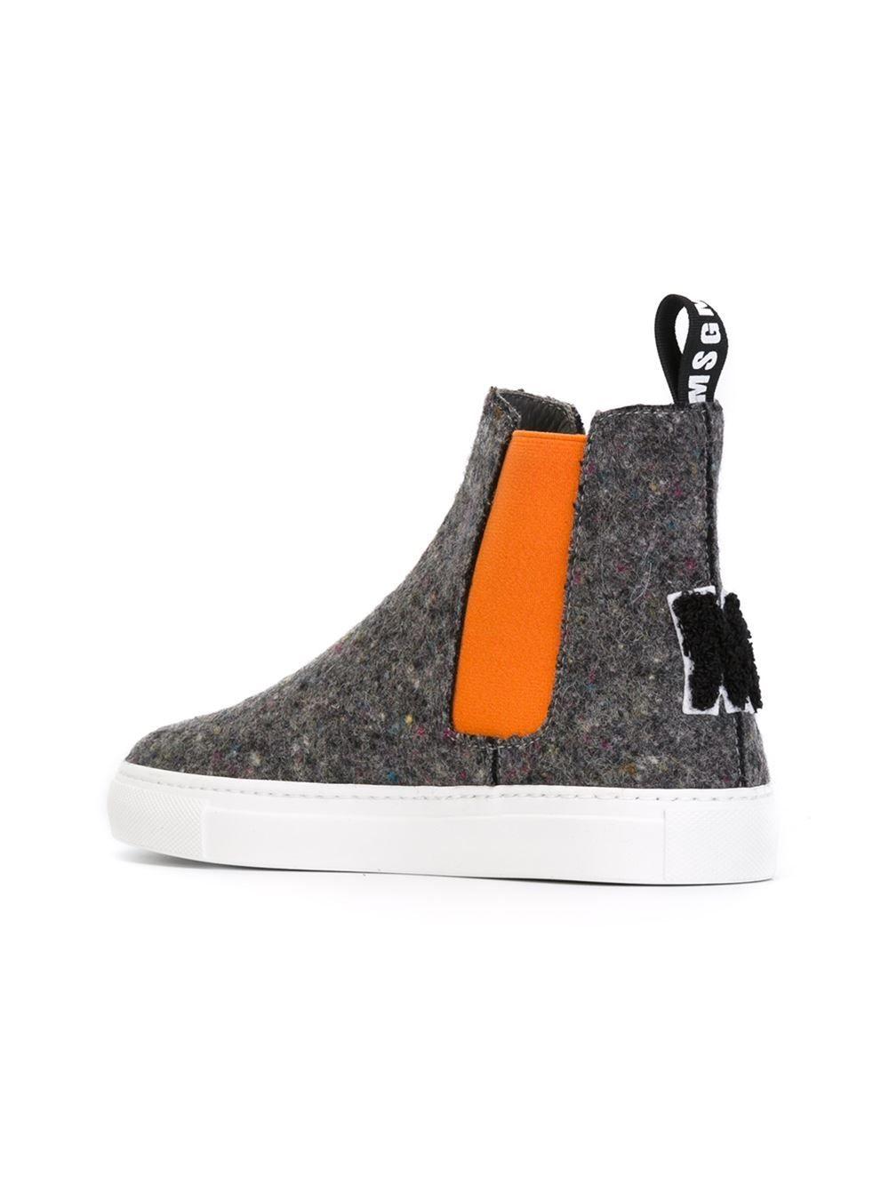 Msgm Felt Hi-top Sneakers - Monti - Farfetch.com